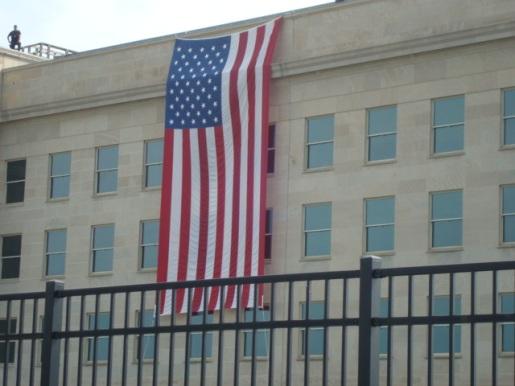 Pentagon Ceremony 11 Sept 2011 flag